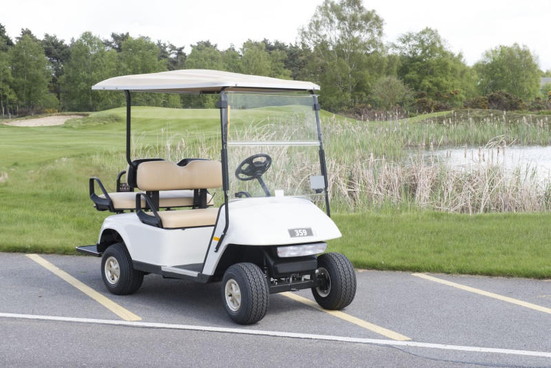 The new motorised golf buggy